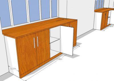 Render mueble organizador